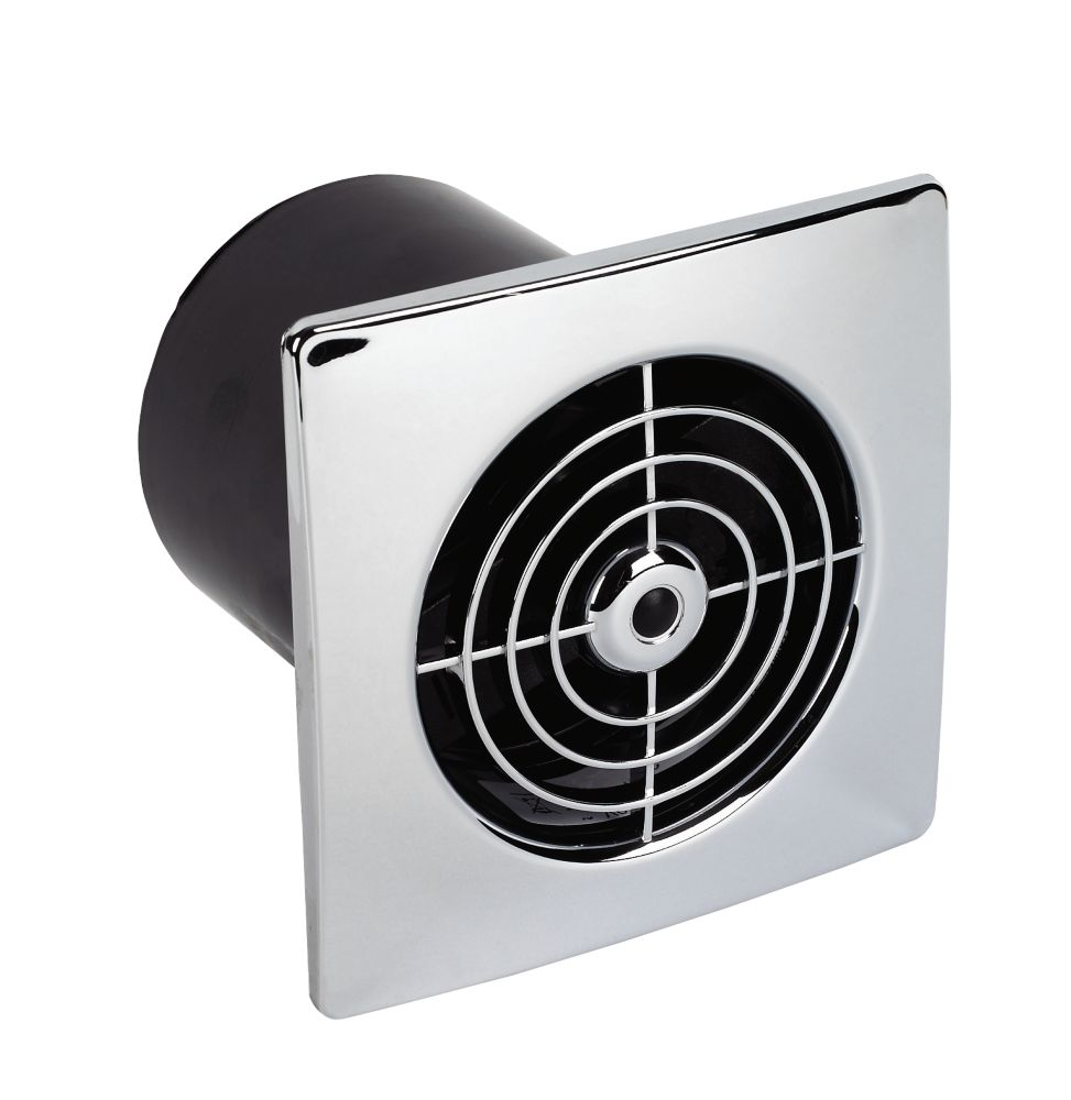 Manrose Chrome Low Profile 20W Extractor Fan