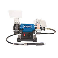 Scheppach HG 34 75mm Bench Grinder & Polisher & 100 Piece Accessory Kit 230V