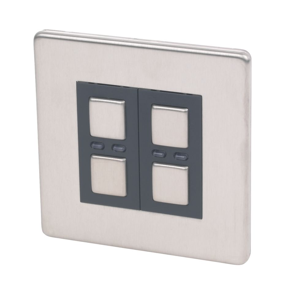 2-Gang 1-Way Dimmer Stainless Steel 250W