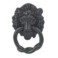 Antique Lion Door Knocker Black 85 x