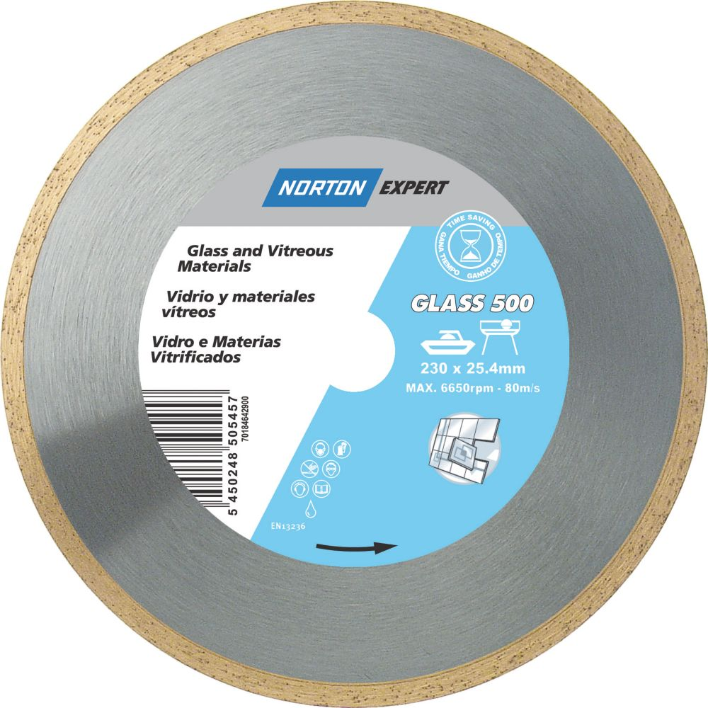 Norton Expert ProGlass Diamond Blade 230 x 25.4mm