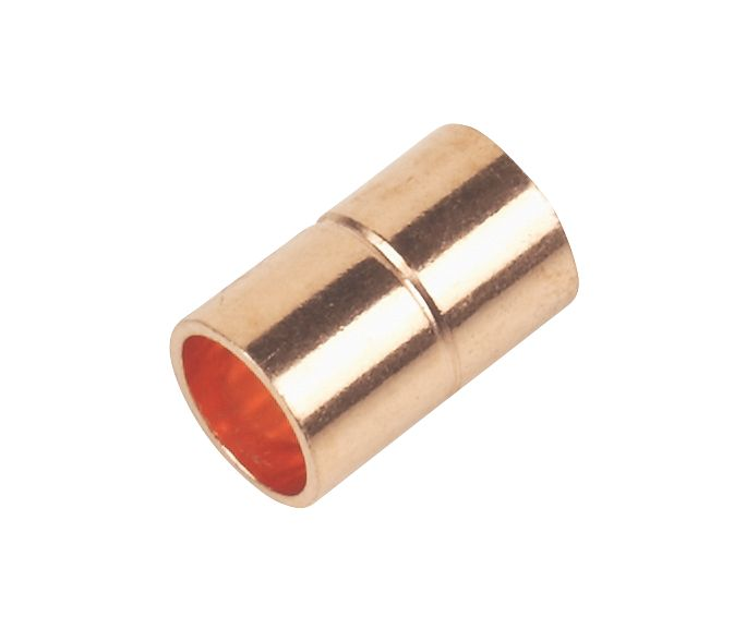 Straight Coupler End Feeds 8mm Pack of 2