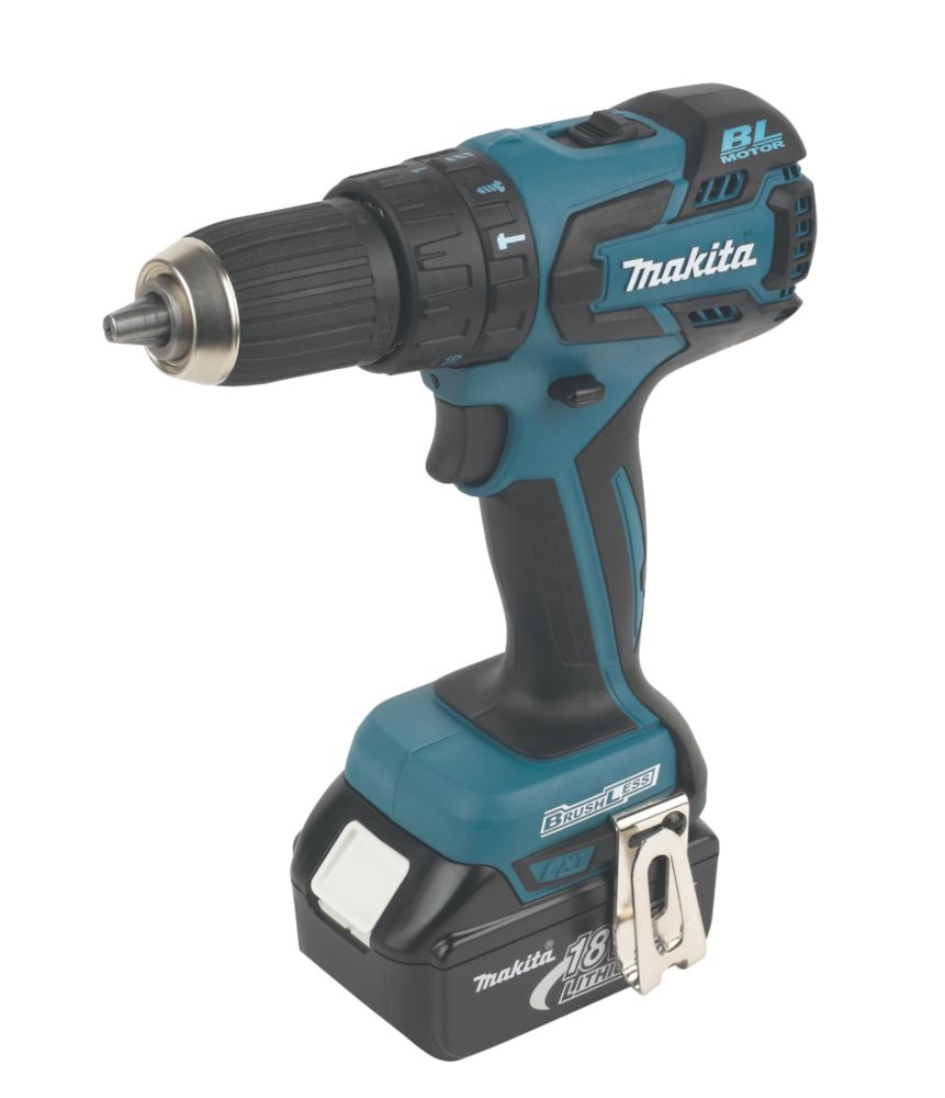 Makita BHP459RFE 18V 3Ah Li-Ion Cordless Combi Drill Brushless Motor