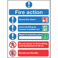 """Fire Action"" Notice Sign 300 x 250mm"