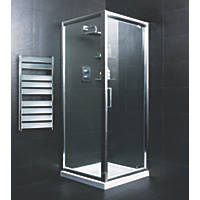 Moretti   Pivot Door Shower Enclosure  Silver 800 x 800 x 1850mm