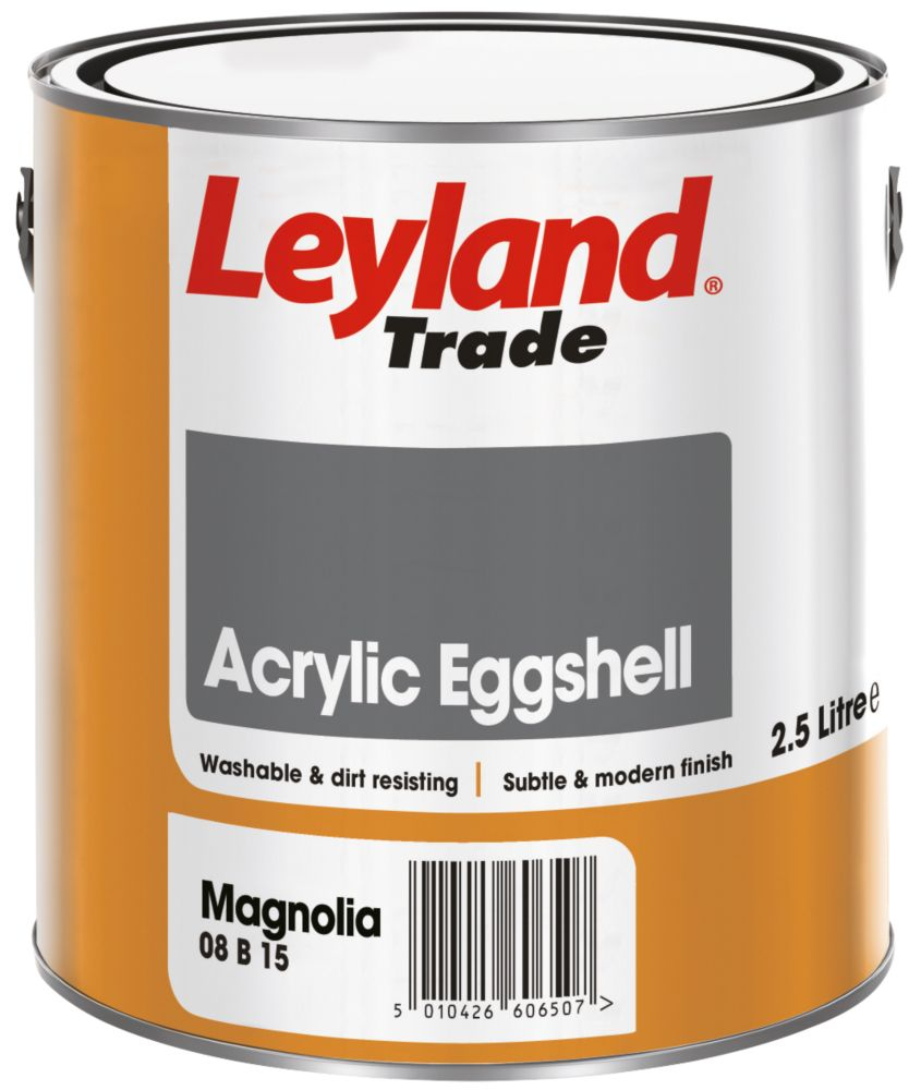 Leyland Acrylic Eggshell Paint Magnolia 2.5Ltr