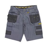"DeWalt Ripstop Multi-Pocket Shorts Grey / Black 36"" W"