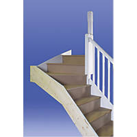 Stairways Chamfered Top Winder Staircase LH Unfinished