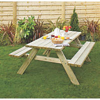 Grange Oblong Garden Picnic Table 2000 x 1530 x 810mm