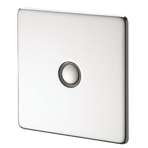Crabtree 1G 400W Touch Dimmer Pol Chrome Flt Plate