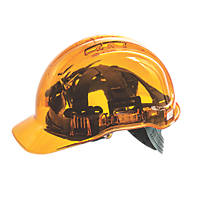 Portwest Peakview Translucent Vented Safety Helmet Orange