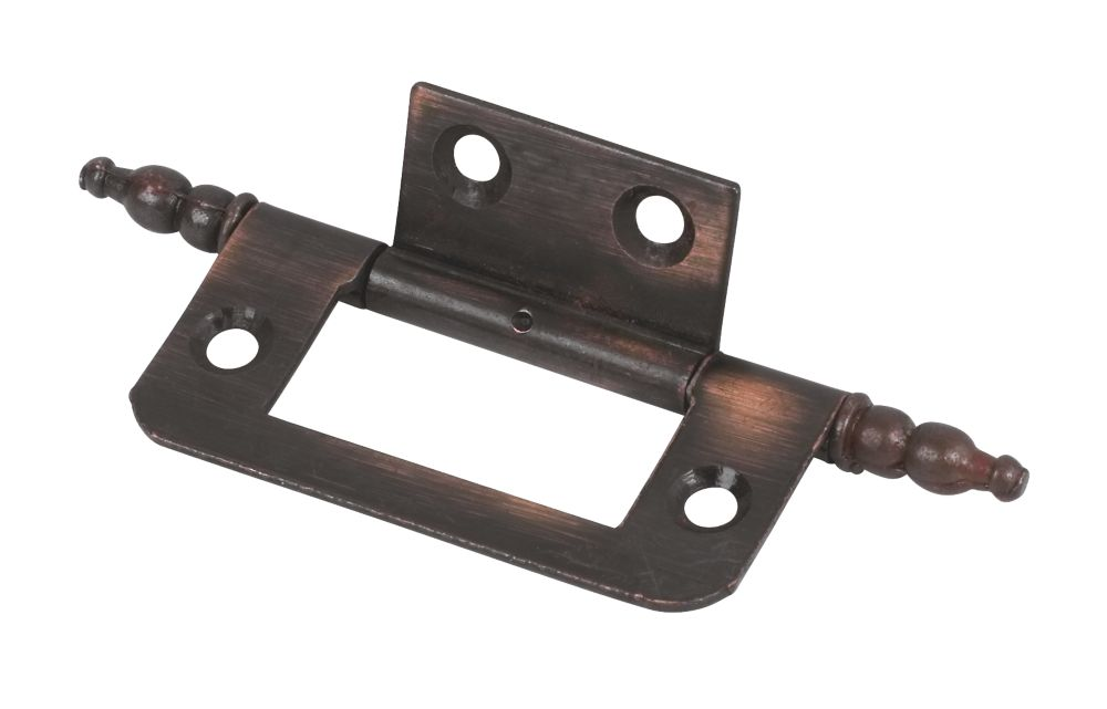 Flush Finial Hinge Bronze Effect 50 x 25 x 1mm Pack of 20