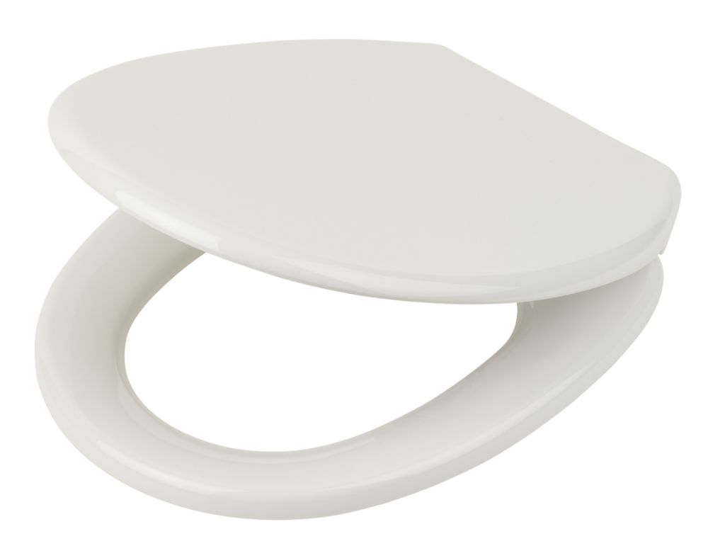 Soft-Close Toilet Seat Polypropylene White