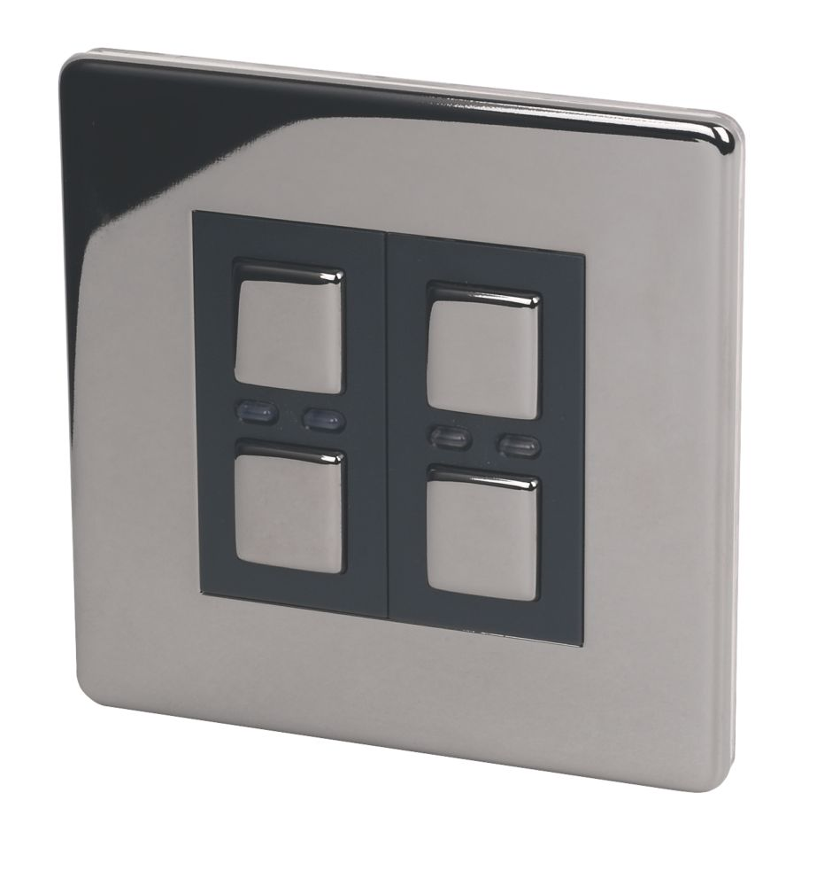 2-Gang 1-Way Dimmer Switch Black Nickel 250W