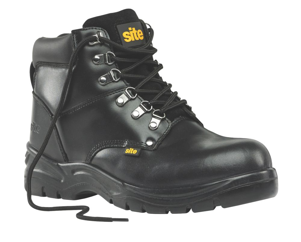 Site Stone Safety Boots Black Size 9