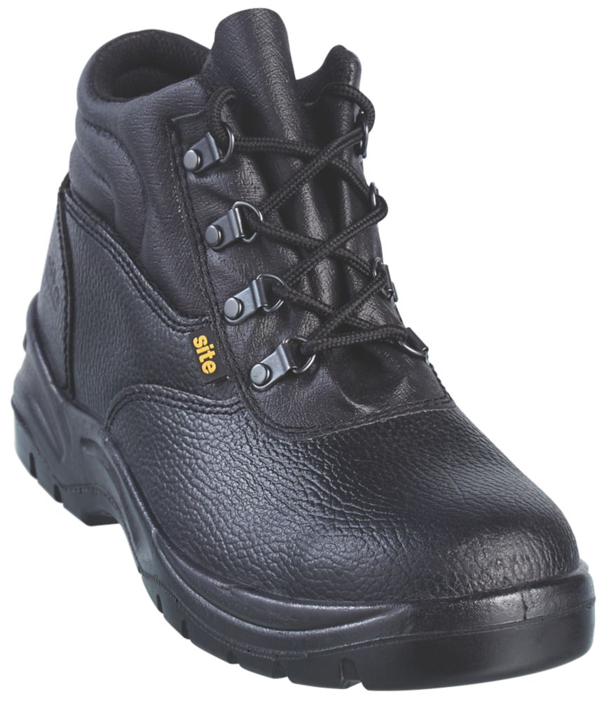 Site Slate Chukka Safety Boots Black Size 7