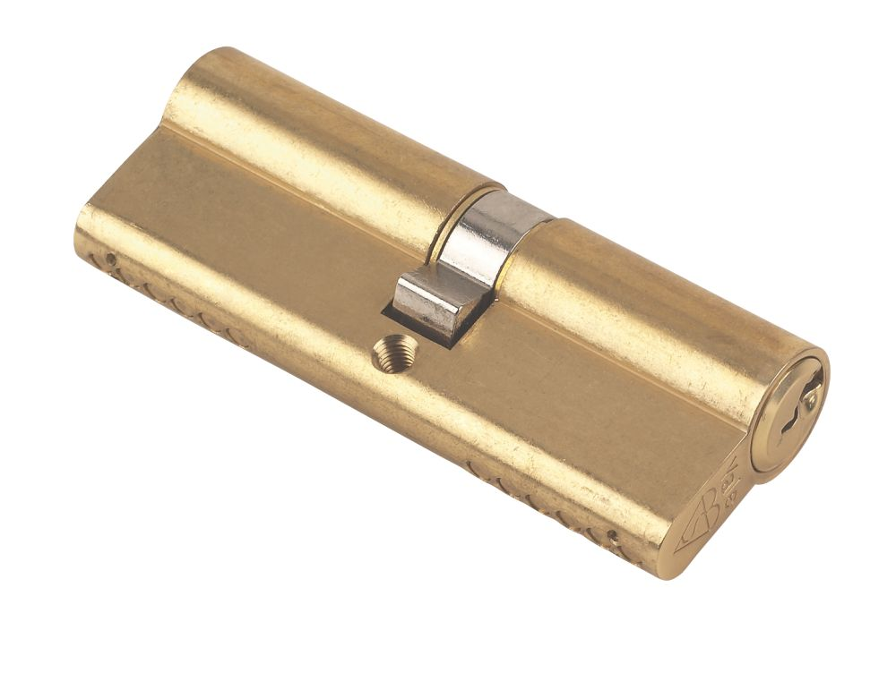 Yale KM Series Euro Double Cylinder Lock 40-45 (85mm) Polished Brass