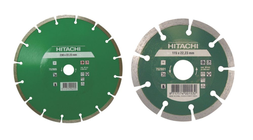 Hitachi Stone & Masonry Segmented Diamond Blades Pack of 2