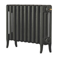 Arroll Neo-Classic 4-Column Cast Iron Radiator Pewter 460 x 634mm