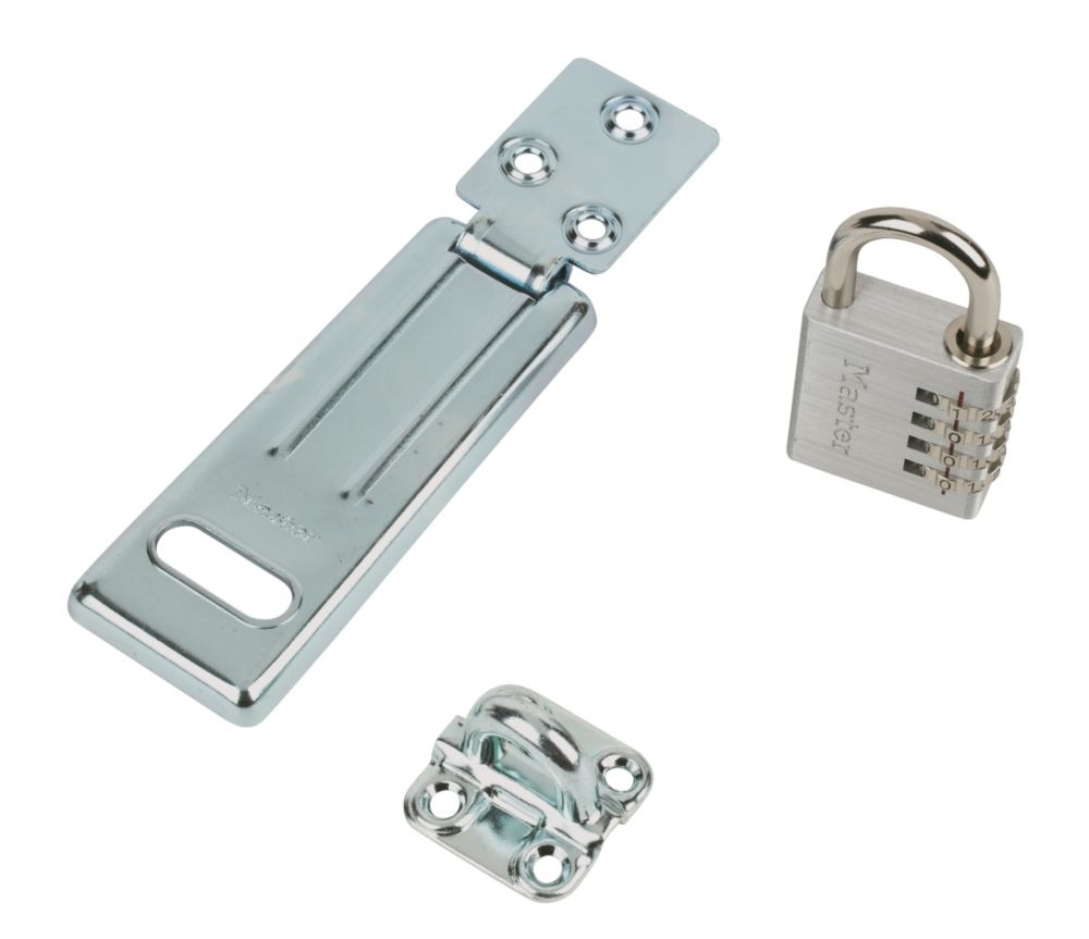 Masterlock Hasp & Staple 115mm with Combi Padlock