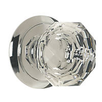 Carlisle Brass  Glass Mortice Knob Pair Polished Chrome 65mm