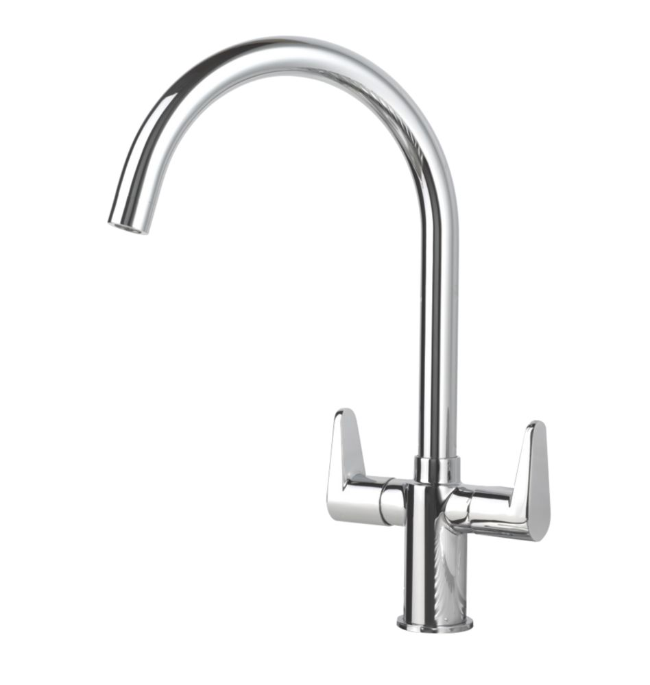 Swirl Rapture Mono Mixer Kitchen Tap Chrome