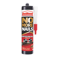 Unibond No More Nails Solvent-Free Grab Adhesive White 365g