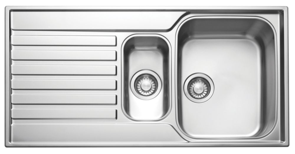 Franke Ascona ASX 651 Stainless Steel 1½ Bowl Kitchen Sink with Drainer