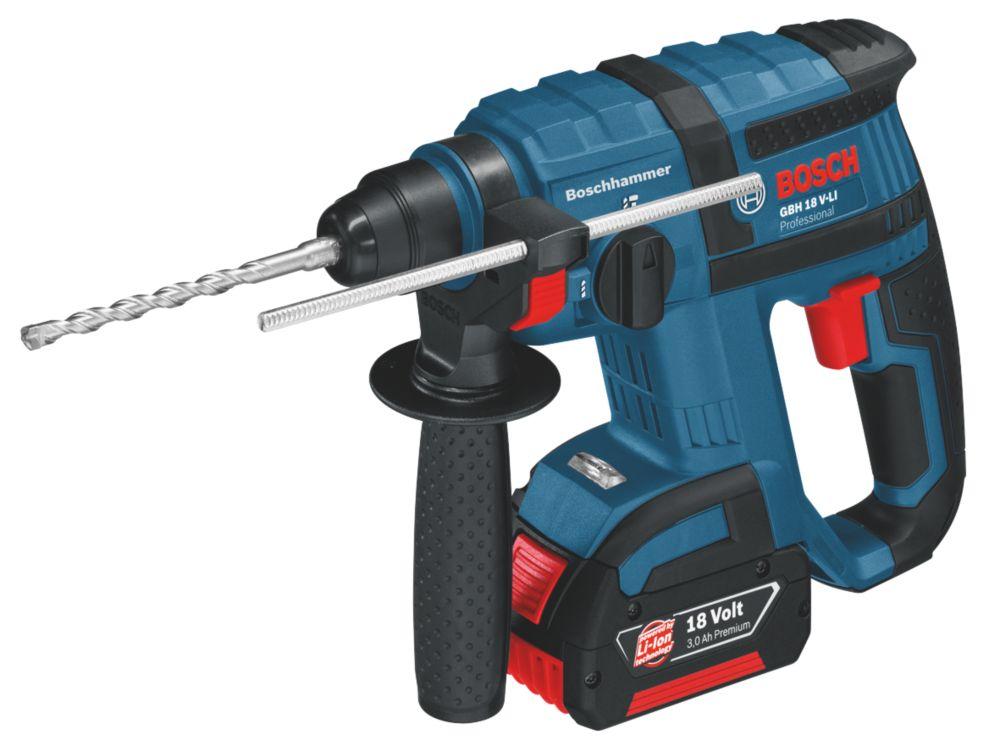 Bosch GBH18V-LI 2.6kg 3Ah Li-Ion Cordless SDS Plus Hammer Drill 18V