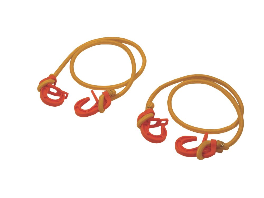 Thorsen Adjustable Bungee Cords with Plastic Hook 200-1000mm Pack of 2
