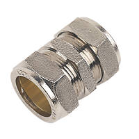 Chrome Straight Coupling 28mm