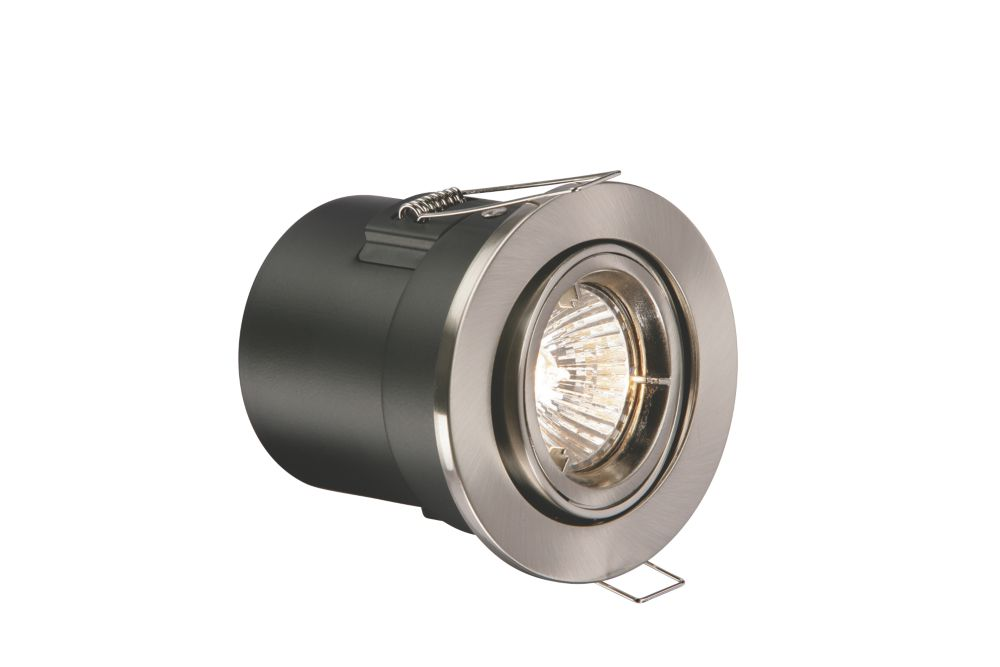 Adjustable Brushed Chrome Low Voltage Fire Rated Downlight 12V
