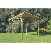 Forest Venetian Pergola 2.93 x 2.93 x 3.30m Natural Timber