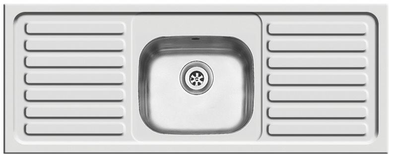 Pyramis British Inset Series Reversible 1 Bowl Kitchen Sink with 2 Drainers