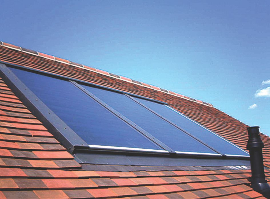 RM Solar One Panel In Roof Flashing-Slate