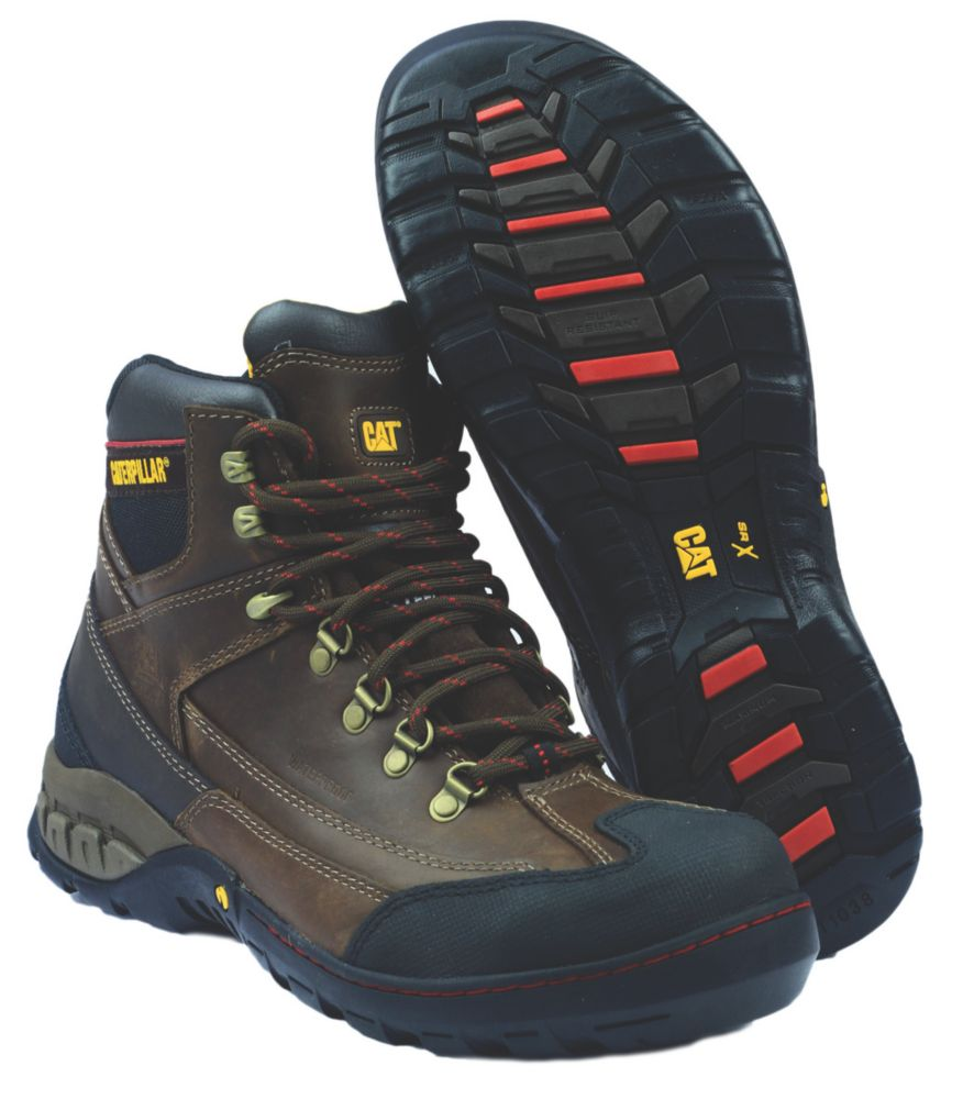 Caterpillar Dynamite Brown Safety Boots Size 10