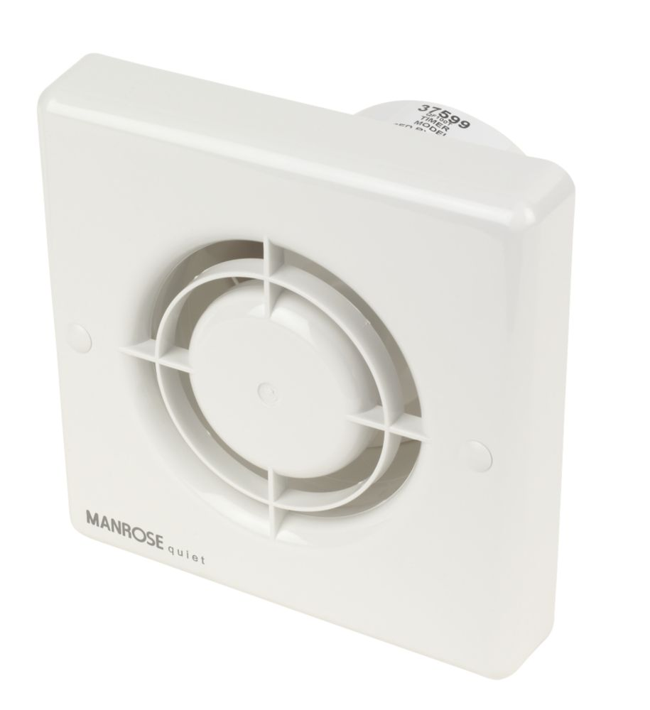 Manrose QF100T Quiet Fan Bathroom Axial Extractor Fan 5W with Timer