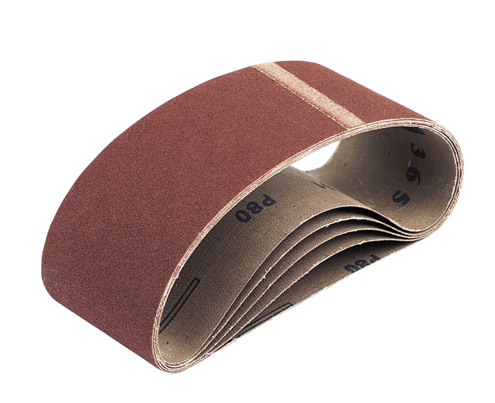 Cloth Sanding Belts 75 x 533mm 60 Grit Pack of 5