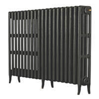 Arroll Neo-Classic 4-Column Cast Iron Radiator Pewter 760 x 1234mm