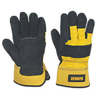 DeWalt DPG41L EU Premium Rigger Gloves Black / Yellow Large
