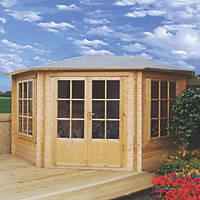 Alcala Solid Sheet Log Cabin 2.9 x 2.9m