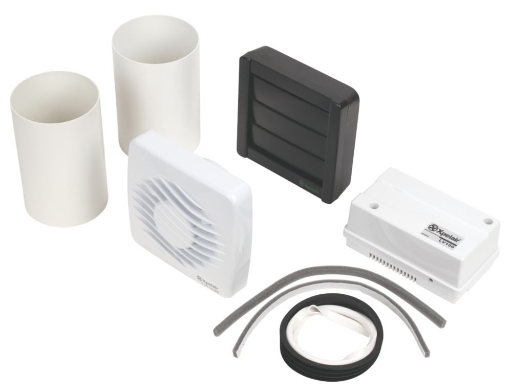 Xpelair LV100H Axial Bathroom Extractor Fan with Humidistat & Timer
