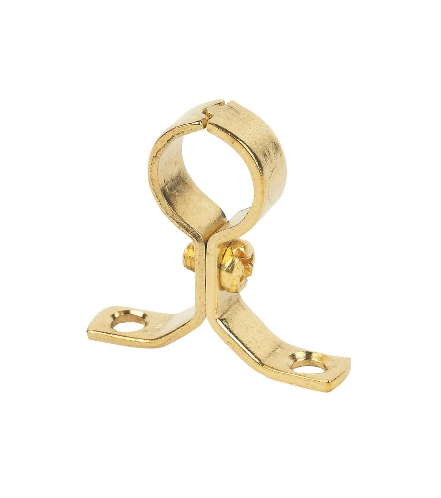 Talon Pipe Bracket Brass 15mm Pack of 10
