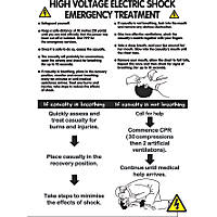"""High Voltage Electric Shock"" Safety Poster 600 x 420mm"