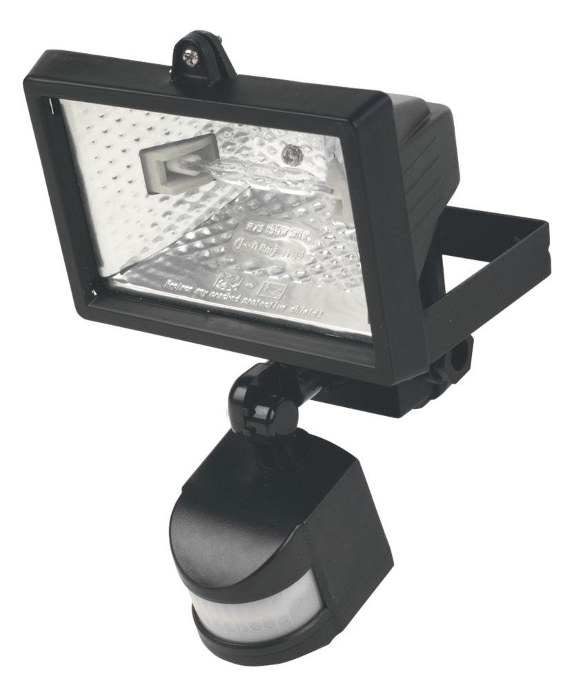 Floodlight 120W Black PIR Photocell