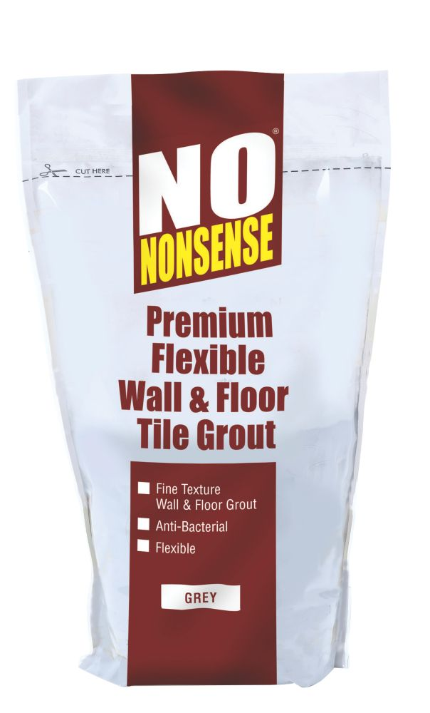 No Nonsense Multipurpose Flexible Wall & Floor Grout Grey 2kg