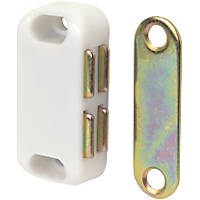 Magnetic Cabinet Catch White 42mm 10 Pack