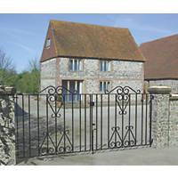 Metpost Ludlow Double Gate Black 1125 x 930mm