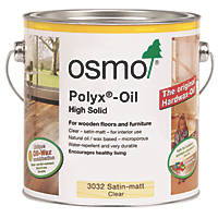Osmo Polyx Hardwax Oil Clear Satin Matt 2.5Ltr