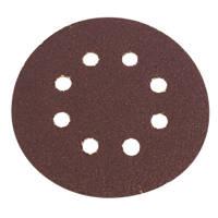 Flexovit Sanding Discs Punched 125mm 50 Grit 6 Pack
